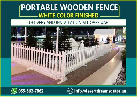 White Picket Fences Uae | Free Standing Fence Supplier | Rental Fence Uae.