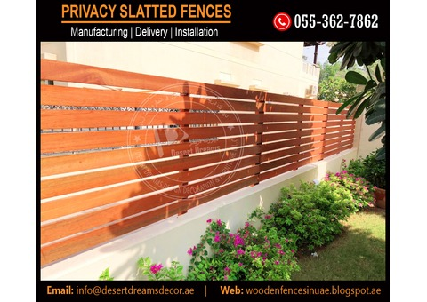 Wall Mounted Slatted Fences Suppliers in Uae.