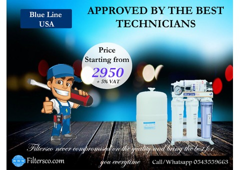 Under sink water filters. Blue Line USA and Filtren UAE.