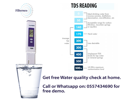 Check your water quality for free  call us for free demo.