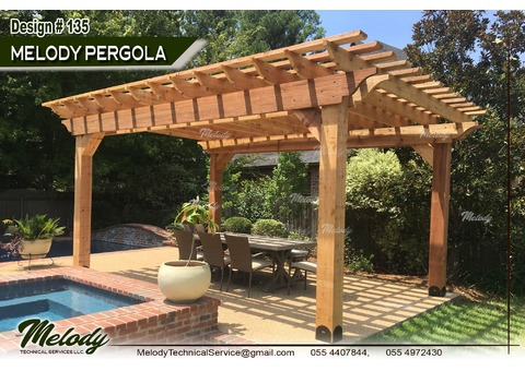 Wooden Pergola Suppliers in UAE | Pergola in Abu Dhabi | Pergola in Arabian Ranches