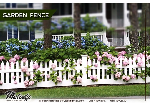 Wooden Garden Fence | Fence Suppliers in Abu Dhabi | School Fence Dubai | Privacy Fence in UAE