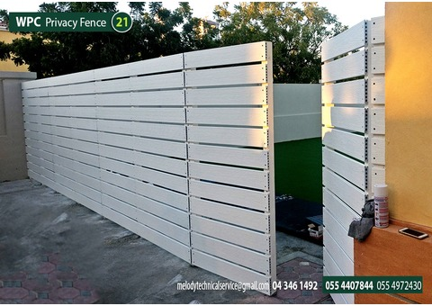 Composite Wood Fence | Privacy Fence | Abu Dhabi fence Suppliers | Dubai Fence Suppliers |Wall Fence