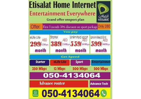 Etisalat home internet