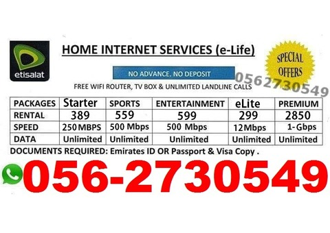 etisalat elife home internet 0562730549