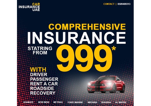 Comprehensive Vehicle Insurance in just 999 only