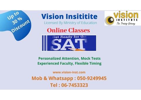 SAT Training at vision institute in ajman call 0509249945