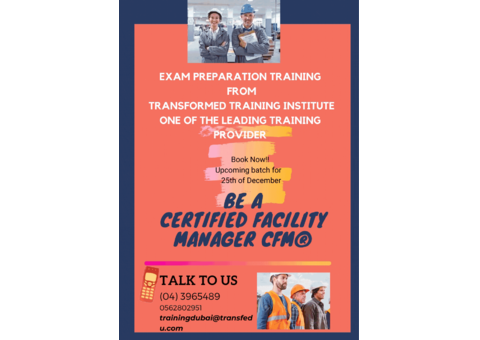 Exam Preparation training for CERTIFIED FACILITY MANAGER (CPC® )