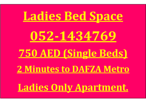 Ladies Bed Space in Qusais-2 Minutes to Metro Station.