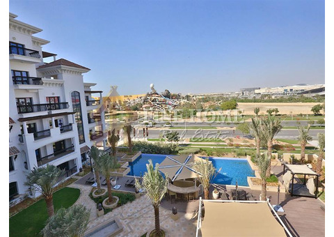 Amazing Pool View 2BR Apartment with Balcony