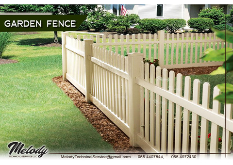 Fencing | Wooden Fence in Dubai | Swimming Pool Fence in Jumeirah Island | Garden Fence