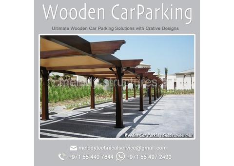 Wooden Car Parking Arabian ranches   Car Parking in Green community   CarParking Suppliers in Dubai