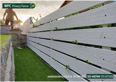 WPC Fencing in Arabian Ranches | Wall Mounted Fencing | WPC Privacy Fencing in Dubai