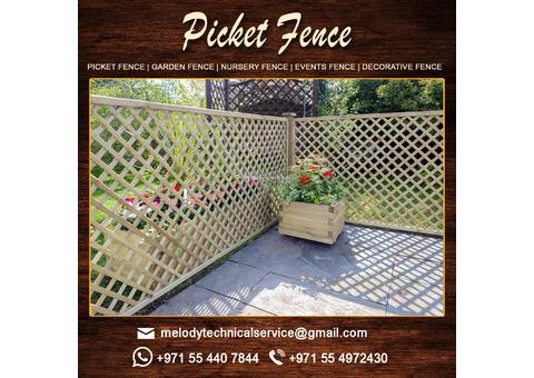 Wooden Fence Suppliers in Dubai | Picket fence | Garden Fence in UAE