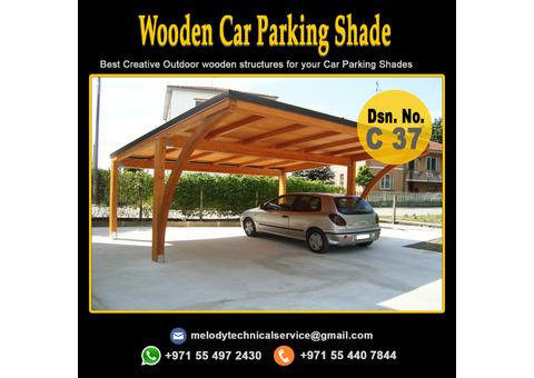 Wooden Car Parking Shade Suppliers in Dubai | Patio Pergola Manufacturer in UAE