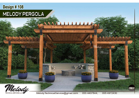Pergola Suppliers in UAE | Pergola in Dubai | Pergola Manufacturer | Seating Area Pergola |
