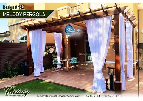 Wooden Pergola Dubai   Install Wooden Pergola in UAE   Pergola Company UAE