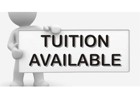 Tuition available in Sharjah. Call 0527392581