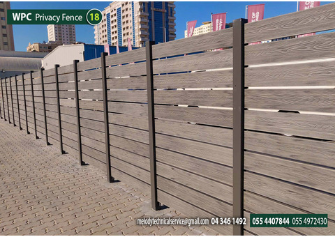 WPC Fence UAE | WPC Fence Suppliers in Dubai | WPC Garden Fence