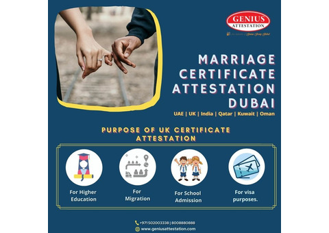how to get marriage certificate attestation in Dubai