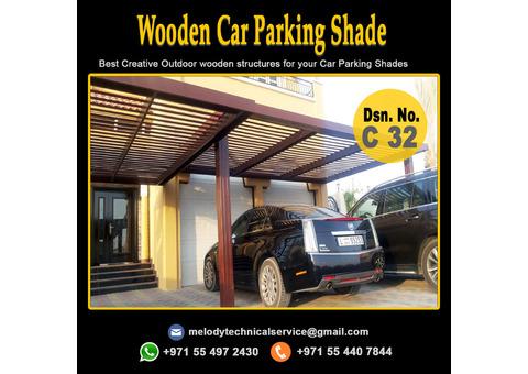 Wooden Car Parking Shade in Arabian Ranches   Car Parking Pergola Maydan City UAE