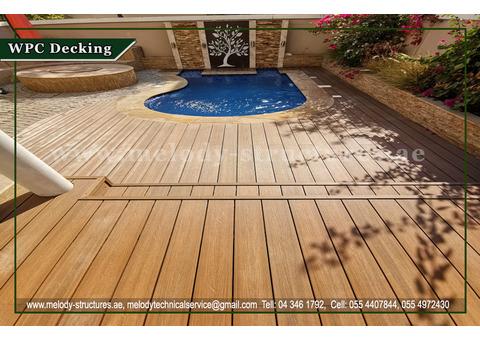 Pool Area WPC Decking in Dubai   WPC Flooring   WPC Decking in Garden Area  