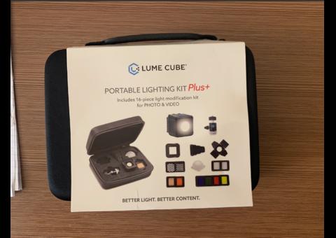 Lume Cube 2.0 Pro Lighting Kit + DSLR Camera Mount w/ Light Stand Adapter