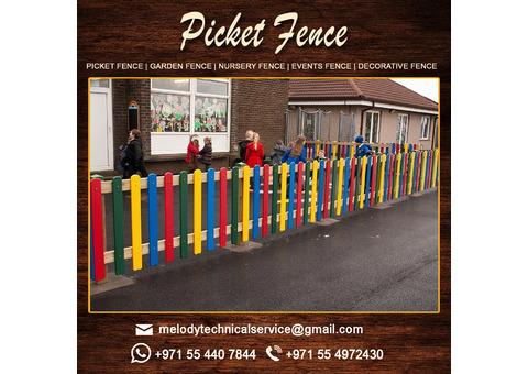 Wooden Fence Suppliers in Dubai, Al Furjan, Sharjah, UAE   Wooden Fence in Garden Area
