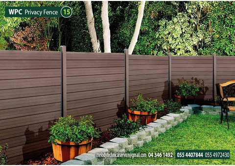 WPC Fence in Green Community   WPC Fence Suppliers in Dubai, Sharjah UAE