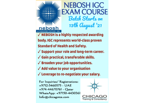 Nebosh IG Certificate in Occupational Health and Safety