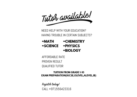 Igcse tuition for chem physics bio and maths