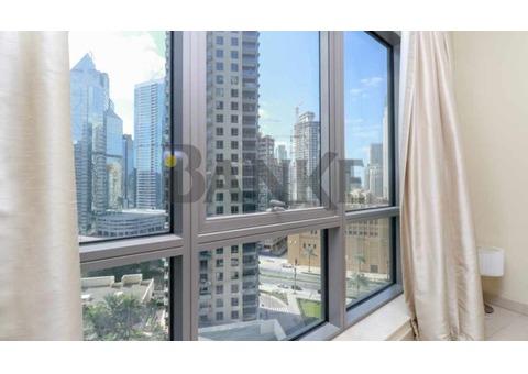 Burj Khalifa and Canal View| Bright| Spacious