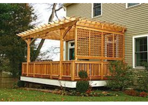 Wood Pergola, kitchen cabinet, wardrobe, Baby Door / fence call 050 209 7517