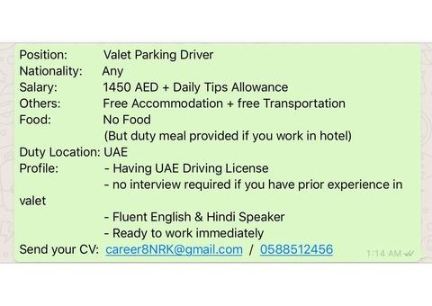 Valet Parking Driver