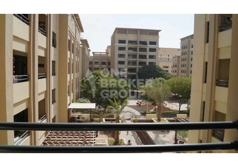 Large 2 BR plus study with balcony Pool View